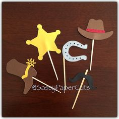 Cowboy Cupcake Toppers by SassyPaperCuts on Etsy