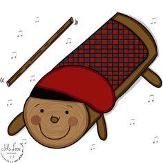 """El """"cagatió"""" es un leño que en Navidad saca regalos para los niños, eso una vez que éstos han calentado la vara en el horno y le han dado luego unos golpecitos...(el leño se cubre con una manta y se deja al descubierto su carita)"""