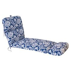 Outdoor Chaise Lounge Cushion - Blue/White Geome... : Target