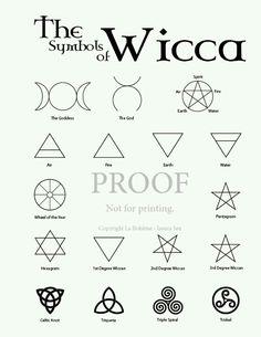 Symbols for Wicca