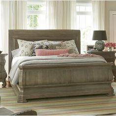 Ophelia & Co. Walburn Upholstered Standard Bed | Birch Lane Sleigh Bedroom Set, Sleigh Beds, Bedroom Sets, Bedroom Inspo, Bedrooms, Platform Bed Frame, Upholstered Platform Bed, Hudson Furniture, Belfort Furniture