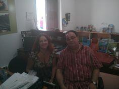 Con el profesor y critico literario, Fernando Valls.