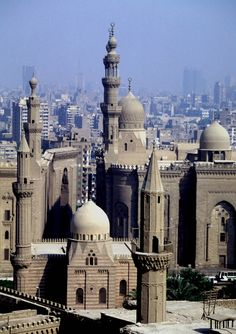 Mosque and Madrasa of Sultan Hassan in historic Cairo.  UNESCO Heritage Site - 1979 - Visited Egypt in 1997 -