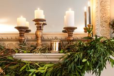 Garland and candles: http://www.stylemepretty.com/living/2014/11/19/deck-the-mantel-with-pier-1-imports/