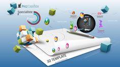 - Template 3D Prezi réalisé pour une entreprise