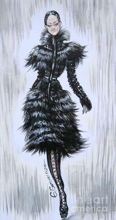 Alexander Mcqueen Autumn Winter 2011-12 Illustrator: Eka Gotsiridze