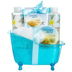 Ocean Side Breeze Tub Spa Bath Gift Set - Overstock™ Shopping - Great Deals on Spa & Relaxation Baskets