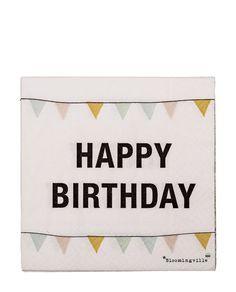 Papierservietten Happy Birthday One Size