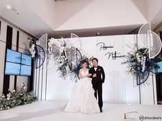 #weddingdecorationthailand #eastingrandhotelsathorn #graphicweddingstyle #weddingreceptionthailand #weddingceremony  #fordeara #fordearaweddings  #minimalwedding #minimalweddingstyle #blueandwhitewedding #backdrop #backdropสีขาวน้ำเงิน #ฉากงานแต่งงาน #ฉากถ่ายรูปงานแต่ง #การแต่งงาน #modernbackdrop Wedding Backdrops, Wedding Decorations, Backdrop Ideas, Pictures, Inspiration, Image, Design, Photos, Biblical Inspiration