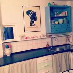 Mit køkken Double Vanity, Kitchen Cabinets, Bathroom, Home Decor, Washroom, Decoration Home, Room Decor, Cabinets, Full Bath