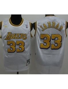 Package - mail cheap jerseys!Los Angeles Lakers 33 Abdul-Jabbar White Throwback NBA Jerseys