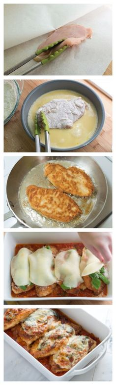Chicken Parmesan Recipe on Inspired Taste at http://www.inspiredtaste.net/22178/chicken-parmesan-recipe/
