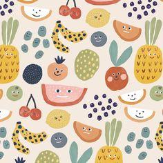 Art And Illustration, Pattern Illustration, Pineapple Illustration, Textile Patterns, Print Patterns, Textiles, Surface Pattern Design, Pattern Art, Circle Drawing