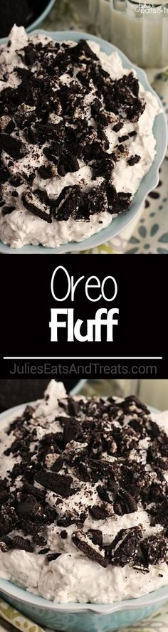 Oreo Fluff ~ Light, Fluffy Dessert or Salad Loaded with Crushed Oreos and Super Simple and Easy! via @julieseats
