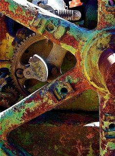 Art photograph of rust taken by John Anglim #rust