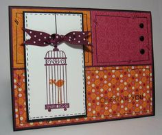 Sweet and Sour Bird in a Cage by bazc - Cards and Paper Crafts at Splitcoaststampers