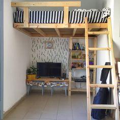 #Loft bed #home #Design #ideas #wood