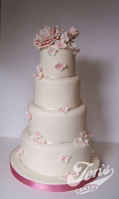 Huda & Richard's cake...aka 'Jessica'! by Jen's Cakery, via Flickr