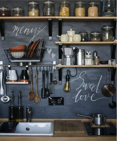 Find Design Modern Home Kitchen Loftstyle Rustic stock images in HD and millions of other royalty-free stock photos, illustrations and vectors in the Shutterstock collection. Kitchen Tops, Kitchen Shelves, Diy Kitchen, Kitchen Interior, Kitchen Dining, Kitchen Decor, Kitchen Walls, Cheap Kitchen, Kitchen Ideas