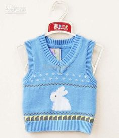 free knitted baby sweater patterns for boys | Free knitting pattern baby sweater vest