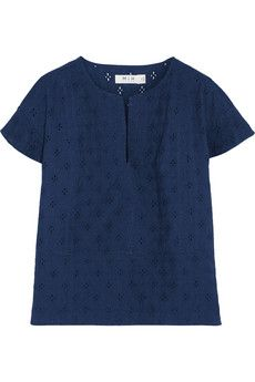 MiH Jeans Broderie anglaise cotton-voile top   NET-A-PORTER