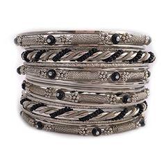 Shop One Twenty Plus Size Silver Tone Black Beaded Stacki... https://www.amazon.com/dp/B01M11EDJ4/ref=cm_sw_r_pi_dp_x_OeV9xbA5NR1QY