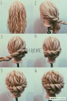 Best Of Cute Hochsteckfrisuren Mittellanges Haar Einfach Best Of Cute Updos Cabello medio largo Simple fino Hairdo Wedding, Wedding Hair And Makeup, Hair Makeup, Wedding Updo With Braid, Curly Hair Updo Wedding, Wedding Nails, Braided Prom Hair, Long Hair Updo Prom, Hair Dos For Wedding