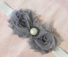 Hey, I found this really awesome Etsy listing at http://www.etsy.com/listing/151850396/grey-shabby-chic-flower-headband
