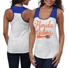 @Lana Sorgi @Marisa Price we need these for baseball season!! Florida Gators Ladies Burnout Raglan Tank Top - White