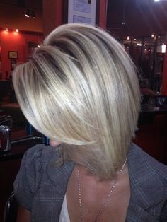 Angular blonde bobs are extremely classy and happen to be low maintenance as well.