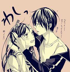 Hiyori Iki x Yato Yato X Hiyori, Anime Noragami, Manga Anime, Girls Anime, Anime Guys, Yatori, Image Manga, Fan Art, Cute Anime Couples