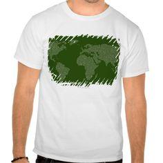 A world map made in binary code T Shirt, Hoodie Sweatshirt