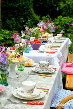 Floral tea party out