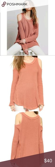 Free People Sunrise Cold Shoulder Sweater Free People Sunrise Cold Shoulder Sweater. Burnt orange color, a bit darker than it shows up in the pics. Excellent condition. No stains or holes. Fits oversized. Can fit size small. Make an offer! 😊 Free People Sweaters