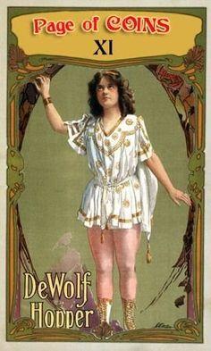 Page of Coins - Vaudeville Tarot
