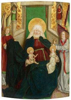 Mittelteil aus einem Triptychon mit Anna Selbdritt, dem Hl. Jakobus und Johannes dem Täufer aus dem 15. Jahrhundert.