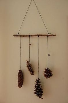 simple pine cone decoration