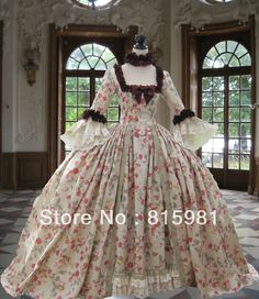Floral Rose Print Renaissance Victorian Gothic Marie Antoinette Civil War Southern Belle Ball Gown Dress XS-3XL 4XL 5XL 6XL on AliExpress.com. 5% off $379.05