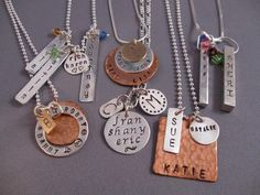 Metal Stamp Set to Make Your Own Hand Stamped Jewelry.....(remember to look for metal stamp set)