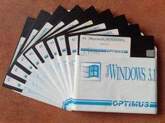 Microsoft WINDOWS 3.1 OPTIMUS 9 dyskietek 5,25 cal