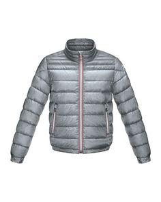 Z1FBT Moncler Daniel Long Zip-Front Puffer Jacket, Gray, Sizes 8-14