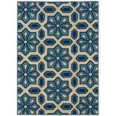 Indoor/Outdoor rug, perfect for a front porch - Found it at Wayfair - Caspian Ivory/Blue Rug