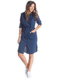 Γυναικείο Φόρεμα με κουμπιά COLLEZIONE - ίντιγκο