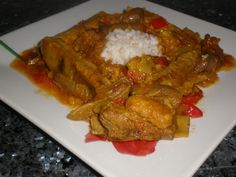 Costillas de cerdo en salsa y arroz blanco Ingredientes (para 4 comensales) 800 Gramos de costillas de cerdo frescas 1...