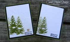 Stampin' Up!, Season Like Christmas, Winter Wonder Textured Impressions folder, handmade Christmas cards, DIY crafts, #carolpaynestamps