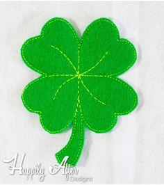 Four Leaf Clover Feltie Embroidery Design