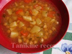 Sýta cícerová polievka Cheeseburger Chowder, Soup, Cooking Recipes, Chef Recipes, Soups, Recipies, Recipes