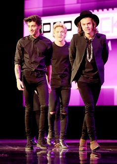 Zayn, Niall, and Harry