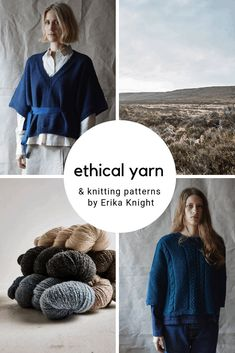 Erika Knight knitting patterns, ethical wool & yarns - From Britain with Love Creative Knitting, Easy Knitting, Knitting Patterns Free, Knitting Yarn, Rowan Yarn, Sustainable Textiles, Knitted Afghans, Yarn Store, How To Purl Knit