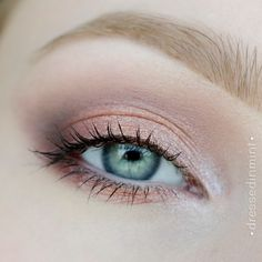 """""""Makeup Revolution ICONIC 3"""" Soft, glowing, beautifully defined eye look. The more peach tinge is beautiful"""